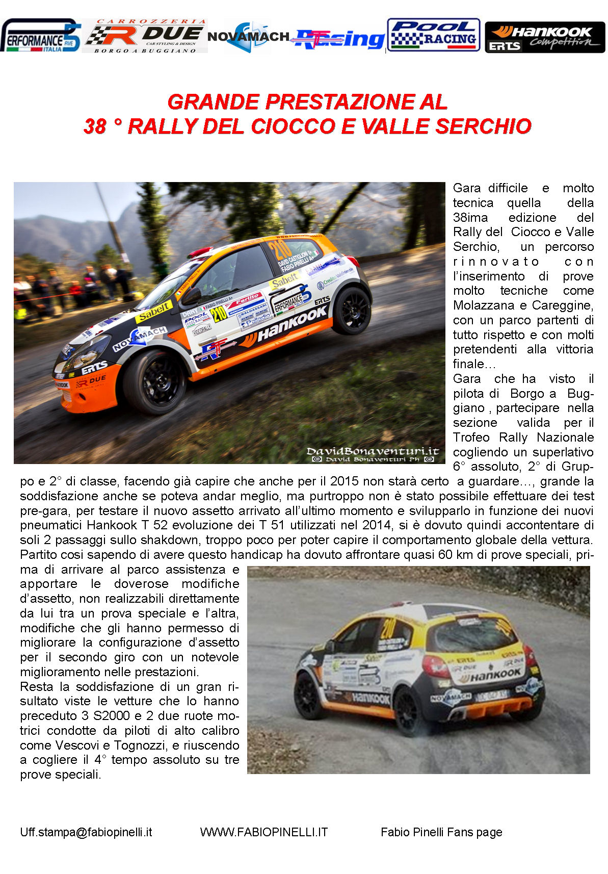 38- RALLY DEL CIOCCO E VALLE SERCHIO